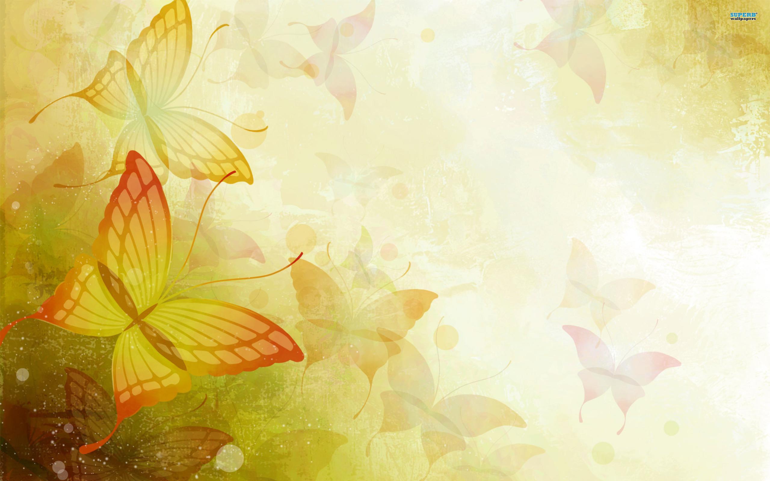 Yellow Swirl Wallpaper